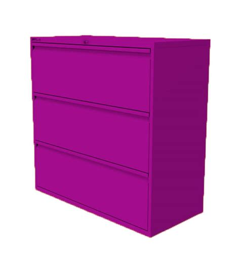 Purple Filing Cabinet 3 Drawer Side Filing Cabinet Purple