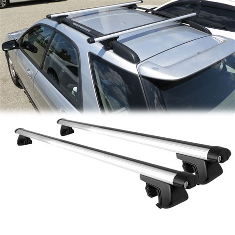 Bars On Top Of Car by 135 Cm 53 Quot Roof Rack Cross Bars Car Top Travel Carrier With Adjustable Cl