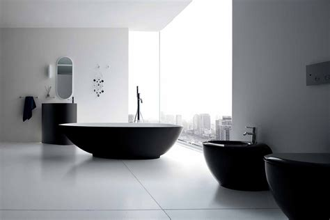 Black And White Bathroom Decor Ideas Black White Bathroom Decorating Ideas Decobizz