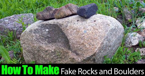Imitation Rocks For Gardens with How To Make Landscape Rocks And Boulders