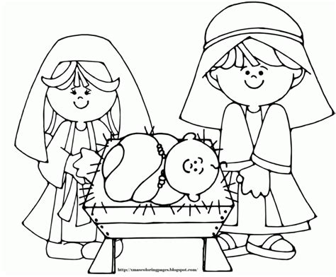 nativity coloring pages for kids coloring home
