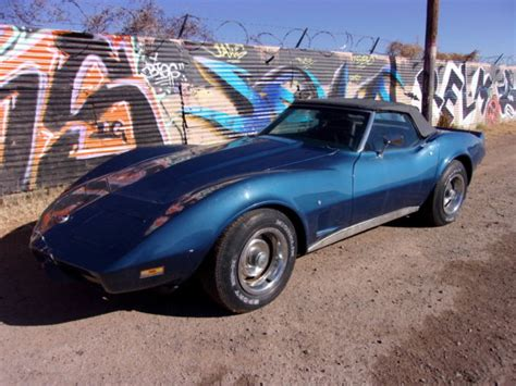 1975 L82 Corvette Convertible 4 Speed Matching Numbers 3rd Owner Ac No Reserve 1975 Chevy Corvette Convertible Number Matching 350 4 Speed P S P B A C Tilt Classic