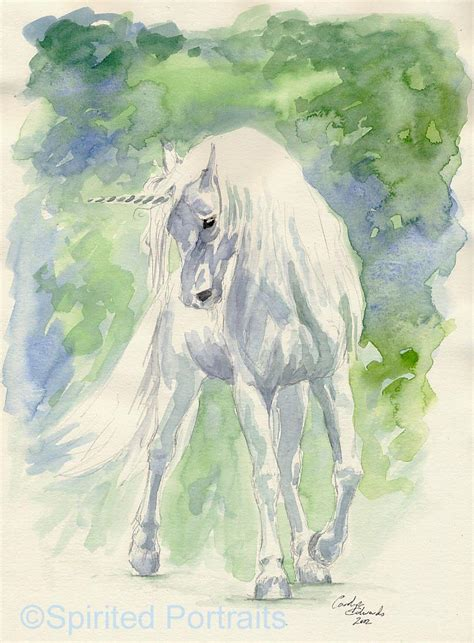 free unicorn painting unicorn in watercolour by timedancer on deviantart