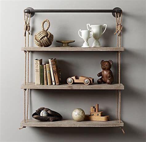 industrial pipe rope shelf home