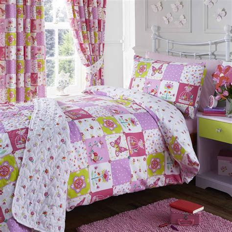 Patchwork Duvet Cover Pattern - patchwork single duvet cover and pillowcase set pink