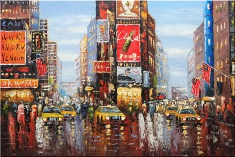 chalk paint new york city times square of new york city painting cityscape
