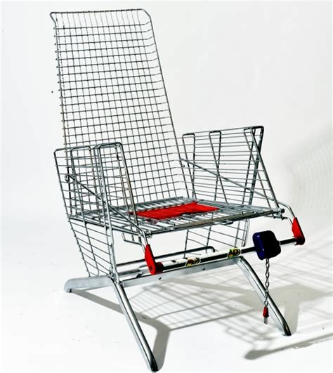 Shopping Chair by Discarded Shopping Carts Turned Into Furniture And Room Items