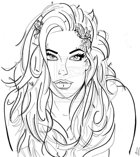 poison ivy coloring pages adult deviantart more like