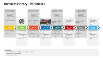 Powerpoint Timeline Template Free by Business History Timeline Editable Powerpoint Template