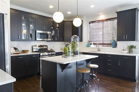 black shaker kitchen cabinets black shaker cabinets contemporary kitchen ivory homes