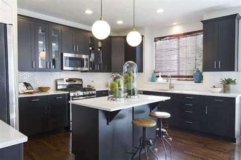 black shaker kitchen cabinets black shaker cabinets www pixshark com images