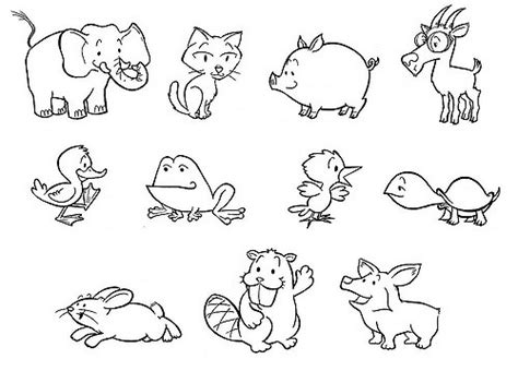 how to draw new year animals baby animals 11 baby animals for a friend s