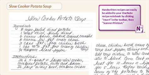 one note recipe template recipes collect digital or scribbled ones in an