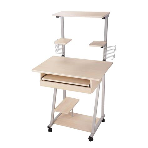 computer desk with tower shelf mobile computer desk tower printer shelf laptop rolling
