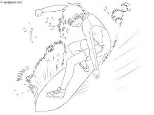 le surfeur coloriage sports gratuit sur webjunior