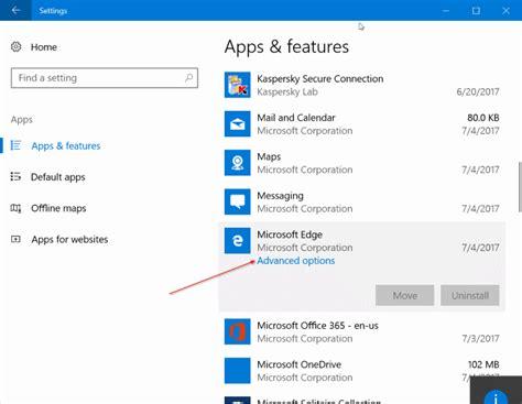 resetting windows edge how to reset microsoft edge via settings in windows 10