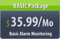 the low cost basic home security systems package from