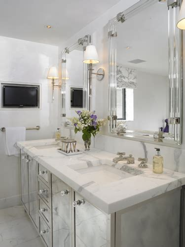 mirrored vanity bathroom mirrored double vanity contemporary bathroom