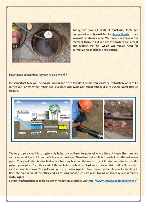 Chicagoland Quality Plumbing by Trenchless Sewer Repairing Plumbing Service Chicago