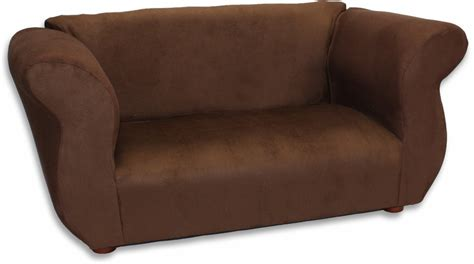 Fancy Sofa In Brown Microsuede Rosenberryrooms Com