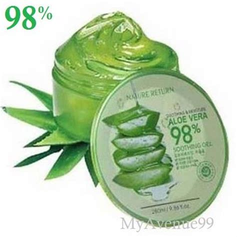 Nature Republic Aloe Vera 98 Soothing Gel nature return korea aloe vera 98 soothing gel 280ml