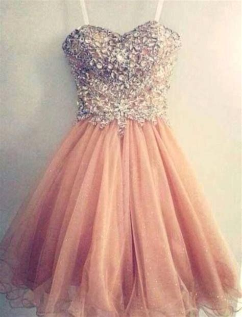 Handmade Prom Dresses - pretty tulle spark mini light pink sweetheart prom dress