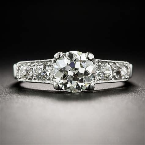 1 37 carat deco engagement ring