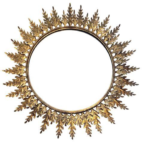 pattern mirror frame large sunburst metal mirror with leaf pattern at 1stdibs