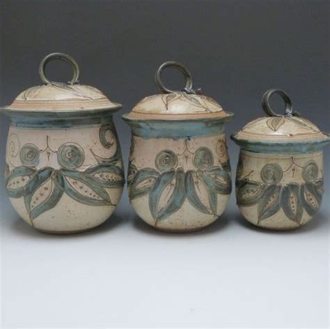 kitchen canister set pottery ceramic stoneware earth tones 17 best images about kitchen canisters on pinterest