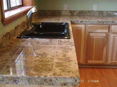 Granite Tile Kitchen Countertops Counter Tops Thelivedinroom