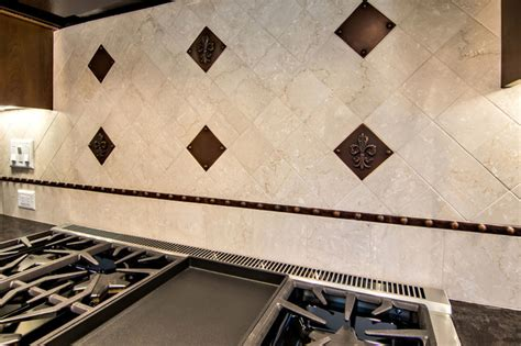 fleur de lys backsplash traditional kitchen san