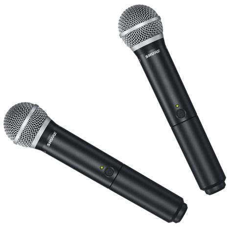 shure blx288uk pg58 dual handheld wireless microphone system exdemo at gear4music