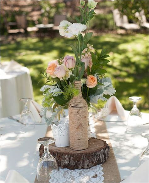 shabby chic backyard wedding runners diy wedding