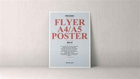 Poster A5 a4 a5 poster flyer mockup vol 3 on behance