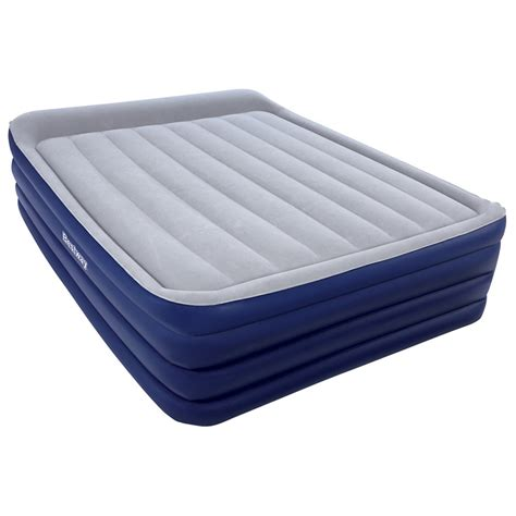 inflatable beds bestway 2 03m inflatable nightright raised queen air bed