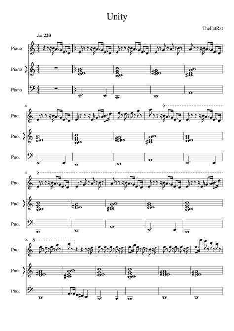 piano tutorial unity thefatrat unity musescore