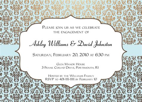 engagement party invitation card invitation templates