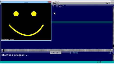 Qbasic Drawing by Qbasic Tutorial 54 Qbasic Smile By Drawing A