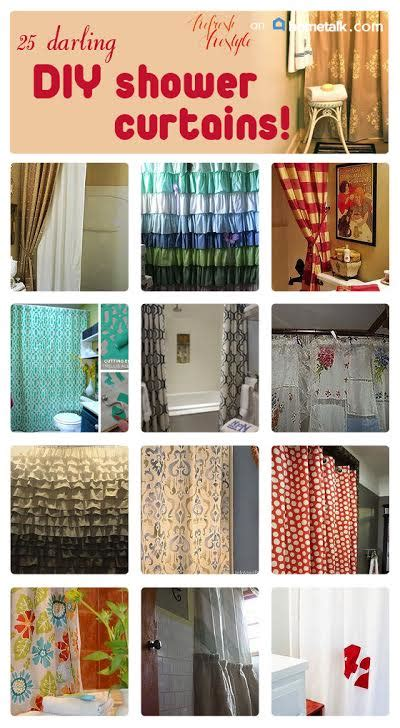 diy bathroom curtain ideas diy shower curtains 25 awesome ideas refresh restyle