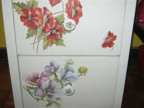 tutorial decoupage su ceramica decoupage su legno cassettiera youtube