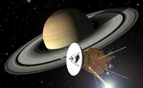 missions to saturn solar system cassini huygens pictures
