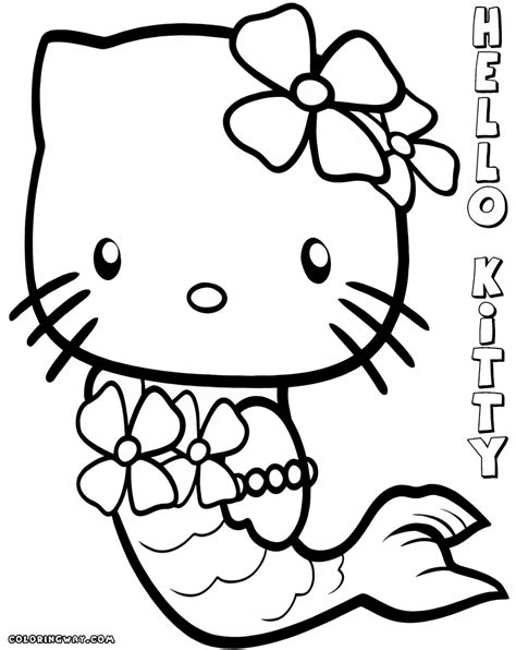 hello kitty skating coloring pages hello kitty mermaid coloring pages coloring pages to