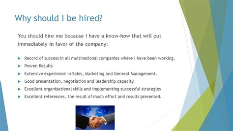 What Of Should I Be by Why Hire Me By Miguel Marante Ppt