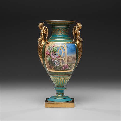 Vase Auction by Copeland 19th Century Antique Porcelain Painted Vase