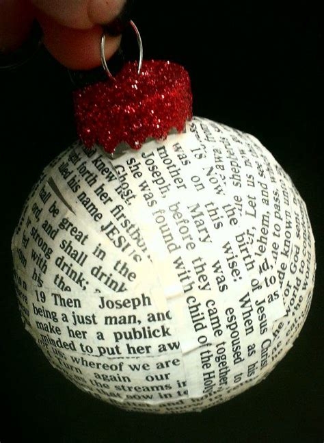 christmas ornament with bible verses