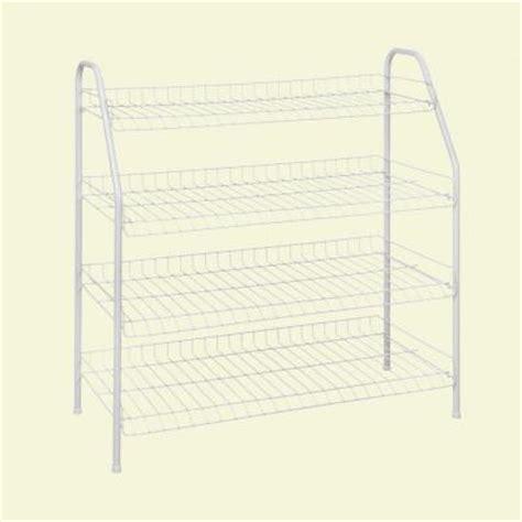 Closetmaid Coat Rack Closetmaid 12 Pair 4 Tier Ventilated Wire Shoe Rack 8131