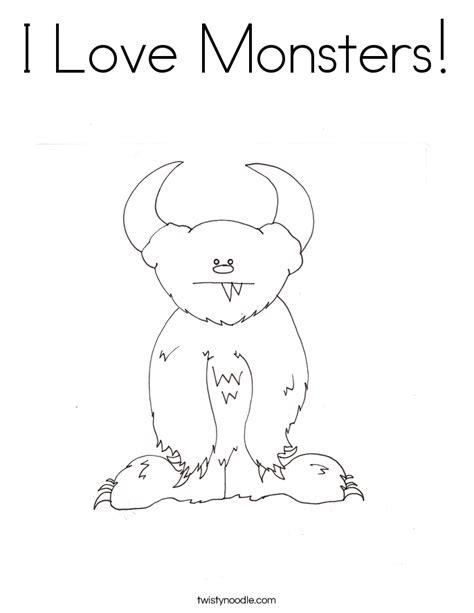 love monster coloring page i love monsters coloring page twisty noodle