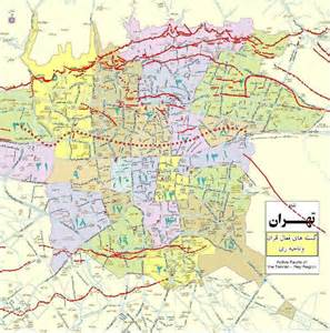 teran map iranmap tehran map of earthquake lines