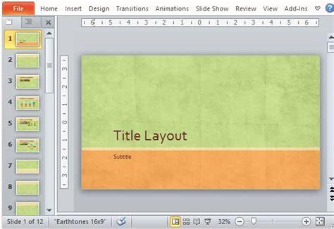 Widescreen Earth Tone Presentation Template For Powerpoint Widescreen Presentation Templates