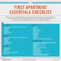 home necessities first time apartment checklist interior design